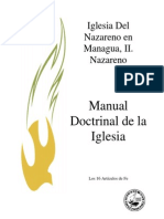 Estudio Art. de Fe Iglesia Del Nazareno. 2008