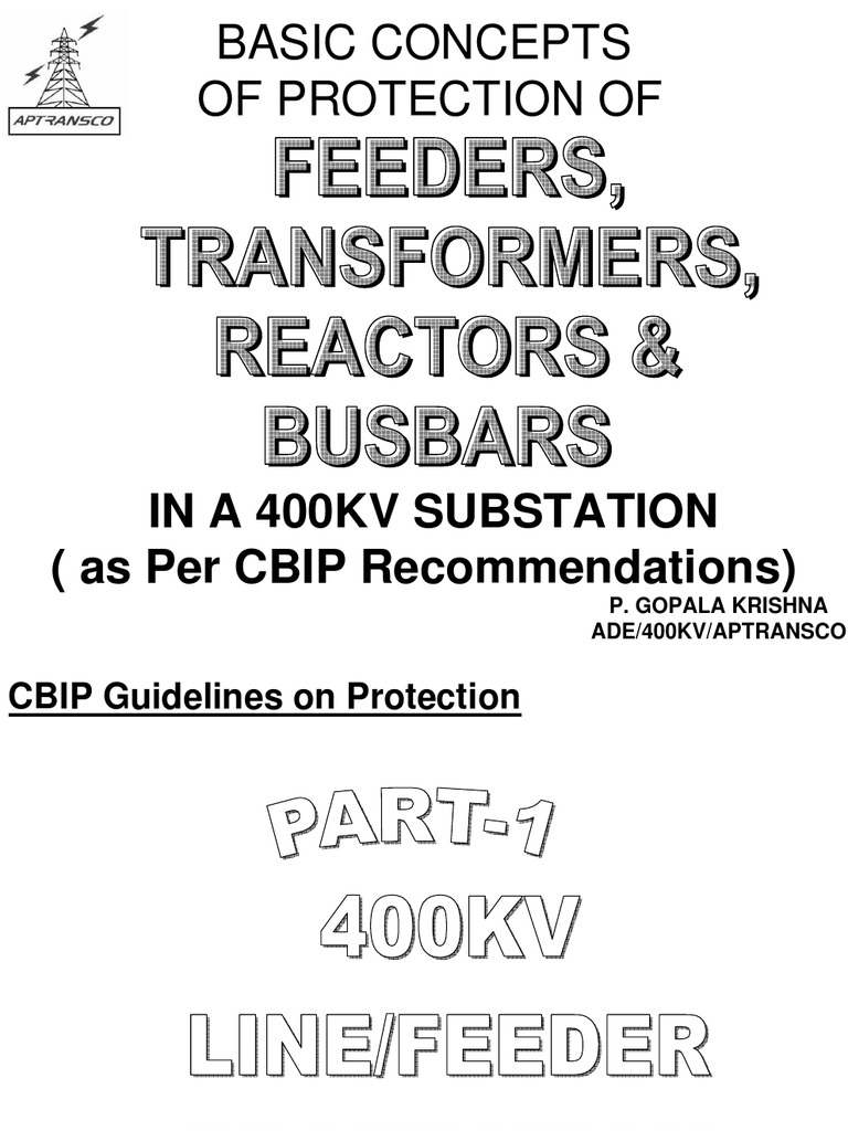 CBIP Recommondations | Relay | Electrical Substation
