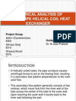 Numerical Analysis of Double Pipe Helical Coil Heat