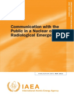 Communication with the Public in a Nuclear or Radiological Emergency