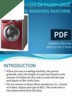 Application of Fuzzy Logic in Washing Machine