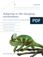 Adopting to the Changing Environment 1