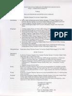 SK Kurikulum Program Magsiter Ilmu Farmasi 1