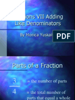 Fractions VII