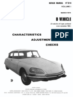 Citroen DS Repair Manual 814 Vol 1 March 1974