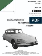 Citroen DS Repair Manual 814 Vol 1 March 1974