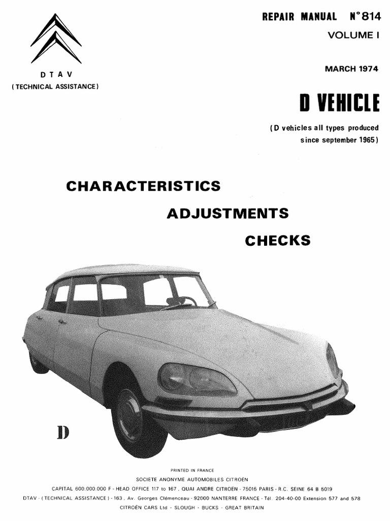 Citroen Ds Repair Manual Volume 1 Citroen Ds Repair Manual Volume 2