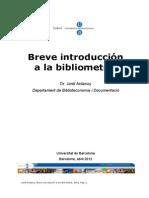 Breve Introduccion Bibliometria