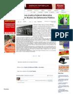 SiteBarra » São Mateus_Justiça federal determina criação de Núcleo da Defensoria Pública
