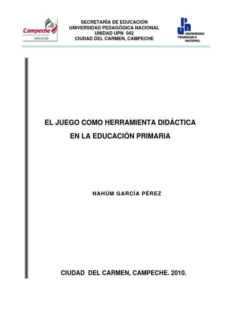 Trabajo El Juego Como Herramienta Didactica en La Educacion Primaria fc2c95265a40