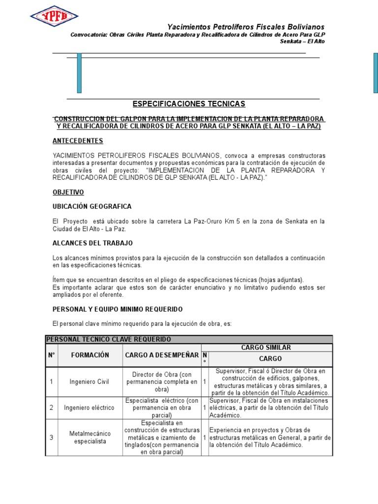 3especificaciones Tecnicas Obras Civiles Senkata - La Paz(1) (1)