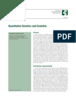 Quantative Genetics and Evolution