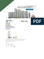 Berkey's Price List