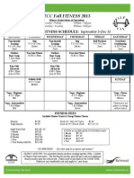 Thompson Comm Ctr Fall 2013 Drop-In Sched