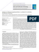 Synthesis of Sulfonated Polyphenylsulfone as Candidates for Antifouling