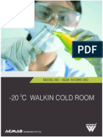 -20 C walk in cold room
