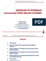 Design and Modeling of Internally Pressurized Thick-walled Cylinder ppt