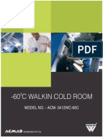 -60 C walk in cold room