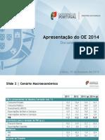 Documento de apoio à apresentação da proposta de Orçamento do Estado para 2014
