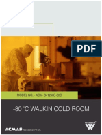 -80 C walk in cold room