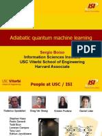 Adiabatic Quantum Machine Learning