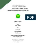 Contoh Rancangan Program Kkn