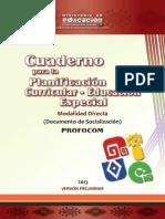CUADERNO PARA LA PLANIFICACIÓN CURRICULAR - EDUCACIÓN ESPECIAL
