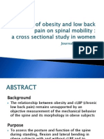 Effect of Obesity and Low Back Pain