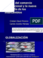 Teorías del comercio internacional y la nueva geografía de los intercambios