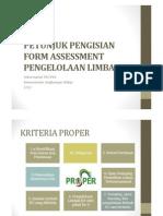 Microsoft PowerPoint - Penjelasan Formulir Self Assessment (PLB3)