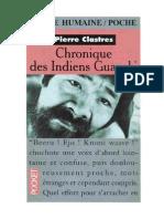 Chronique Des Indiens Guayaki - Pierre Clastres