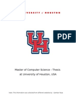 Masters in Computer Science Course Details