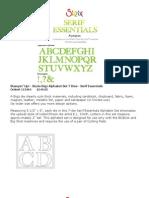 Sizzix Alphabet Dies 2009-2010 SU Catalog