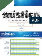 Informe Avance Místico Octubre 2013