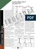 calculation of portal frame deflection