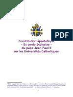 Ex Corde Ecclesiae - franáais