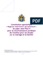 Magnum matrimonii sacramentum - franáais