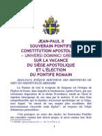 Universi dominici gregis - franáais