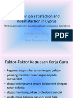 Teacher Job Satisfaction and Dissatisfaction in Cyprus