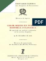 El Especiado con Azafrán y Pimentón en la Cocina Española