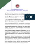 Dua aikidoka Indonesia ikut serta dalam world combat games 2013
