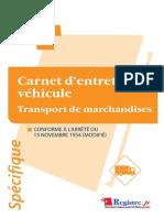 m033-Carnet Entretien Vehicule - Transport de Marchandises Extraits