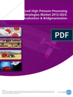 The Food High Pressure Processing (HPP) Technologies Market 2013-2023