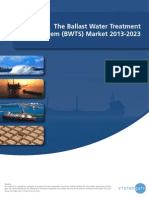 The World Ballast Water Treatment System (BWTS) Market 2013-2023