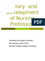 History of Development of Nursing Profession in India