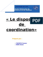 9- le dispositif de coordination