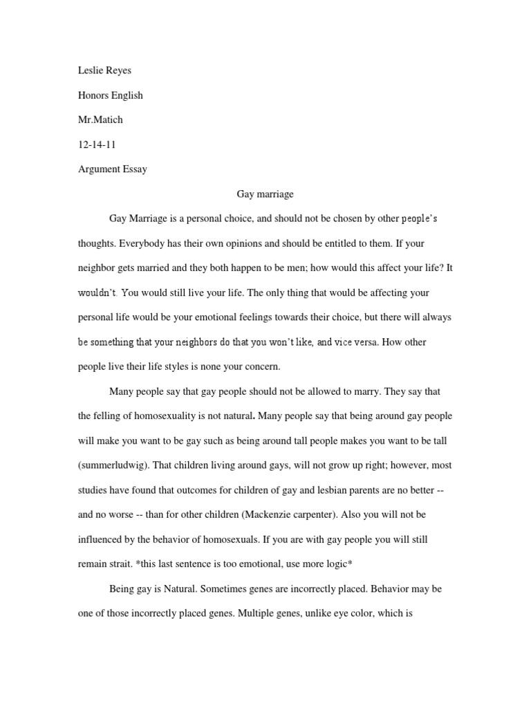 feelings towards essay