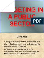 Budgeting in a Public Sector Power Point