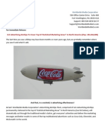 121 Advertising Airships To Cover The Top 67 Statistical Marketing Areas