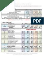 PINK PROGRAM PRICE-LIST